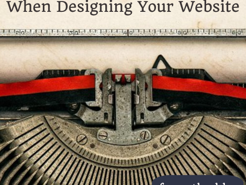 The Number 1 To Think ABout When Designing Your Website